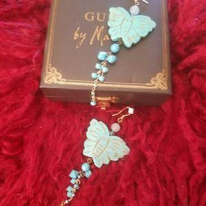 Jewelry - Beautiful Turquoise Butterfly Earrings